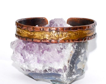 Reticulated Cuff bracelet. For Her & for Him. Made To Order