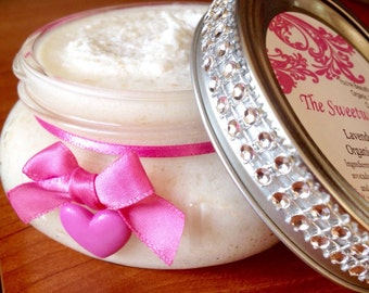 Valentine Pink Heart Sugar Scrub/Gift for Friend Body Scrub/Valentine Gift for Coworker/Gift Spa Bath Scrub