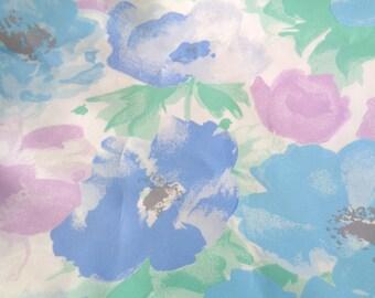 1 yard floral poly taffeta