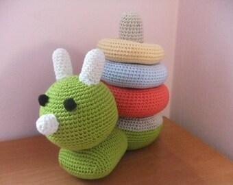 Pattern Snail Toy Amigurumi