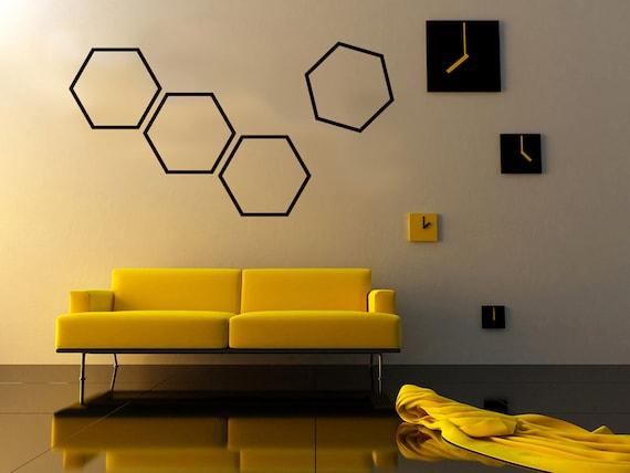 Wall Decor Hexagon : Items similar to hexagon shape wall decal home decor