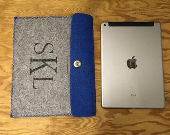 Custom Monogram Felt Tablet/iPad Sleeve
