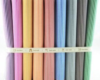 Fat Quarter Bundle - thin - STRIPES collection - 9 fat quarters