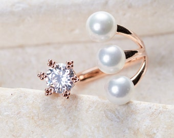 Florence Ring - White gold/ Rose gold/ Yellow gold plated dainty