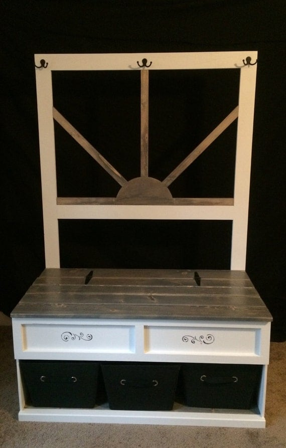 Hall tree toy box dressers - Adding character to your hallway with a hall tree ...