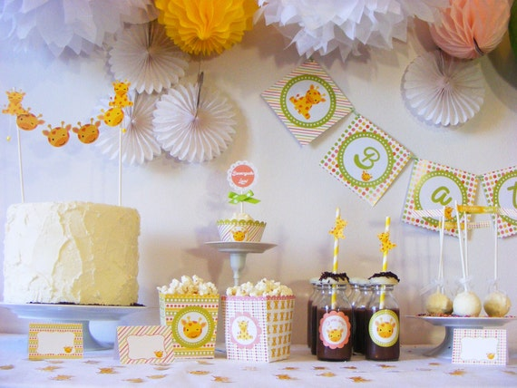 Baby birthday decorations for 8 printed party package baby for Decoracion para ninos