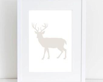 Deer Print, Deer Artwork, Deer Decor, Deer Wall Art, Wall Art, Printable Wall Art, Deer Print, Deer Wall Print, Digital Printable Art