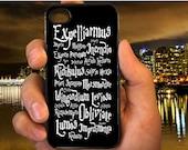Harry Potter Black Magic Spells case for iPod 4th 5th,iP 5,5s,5c,4,4s,6,6+,LG Nexus,HTC One,Galaxy S3,S4,S5,Note 2,3