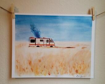 Breaking Bad RV Watercolor Print