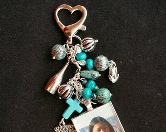 Photo Charm Zipper Pull /Key Chain