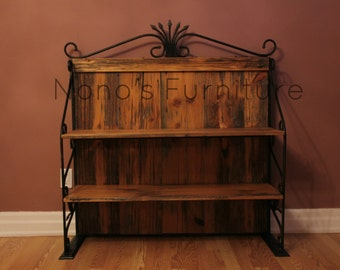 Iron Barnwood Shelving Unit