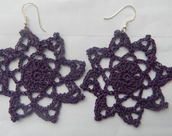 Crochet Earrings Star