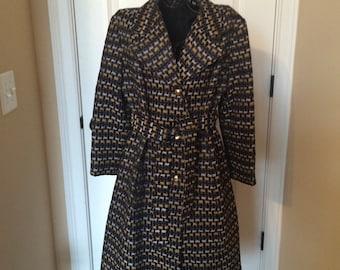Vintage Weatherbee All Weather Dress Coat, size medium