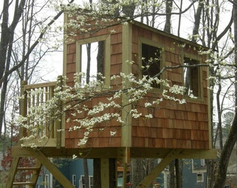 Tree House Plans For Two Trees zelkova treehouse diy plans to fit two trees