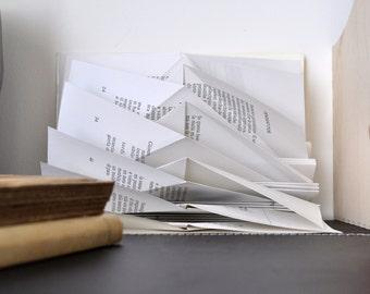 Minimalist art - Book lovers' day - Folded book sculpture - Minimalist decorative object - Minimalist gift