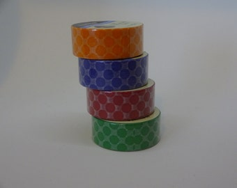 Set of 4 Washi tape with polka dots 5 yards each crafting decorative tape washi tape cardmaking tape scrapbook tape