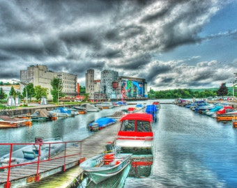 Midland Bay in HDR - Midland, Ontario