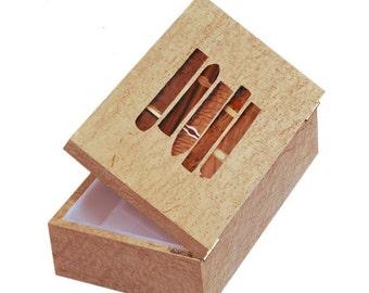 Custom Humidor or with Inlay and Acrylic Interior