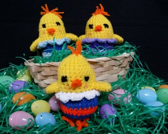 Baby Easter Chick - Crocheted