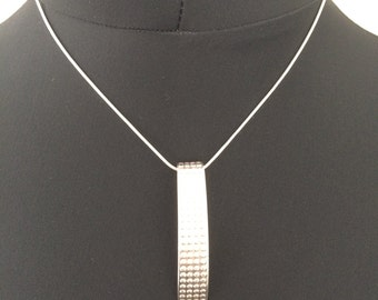 Fine silver necklace from silver spoon style on snake chain