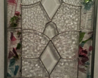 Abstract window panel - stained glass