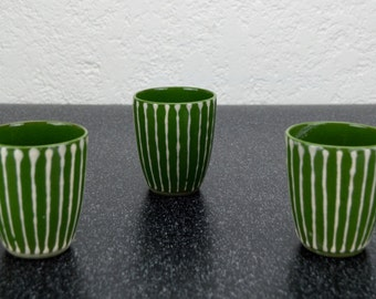 Ceramic Hand Painted Sake Cups
