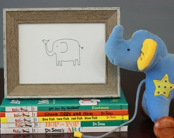 Elephant no. 1 Drawing, reproduction from original ink drawing
