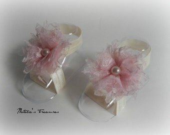 Barefoot Sandals.Baby Shoes.Summer Sandals. Baby Gift.Photo Prop.