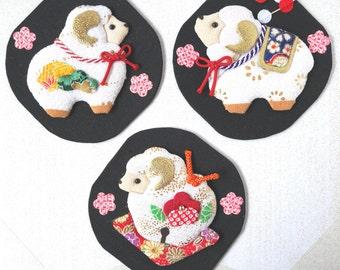 Japanese Oshie art : Sheep 羊