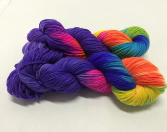 Hand Dyed Sock Yarn - Junior Phairy Hair