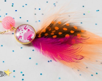"""Feathers """"Mabzoju ice-A4"""" necklace for girls"""