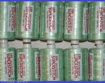 120s Sewing Machine Polyester Thread 1000 yard Apple Green