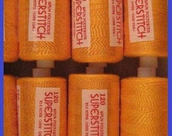 120s Sewing Machine Polyester Thread 1000 yard Tangerine