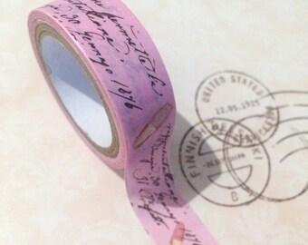 Japanese Paper Tape - English Pink