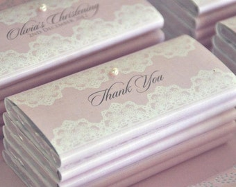 Lovely Lace Collection Printable Chocolate Wrapper