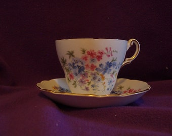 Regency English Bone China Teacup and Saucer