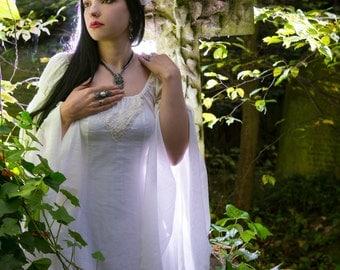Ophelia Dress - Handmade Pre Raphaelite Waterhouse Inspired Medieval Pagan Wedding dress