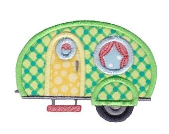 Move It Applique Camper Trailer Applique Machine Embroidery Design 4x4 5x7 6x10