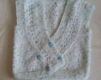 Blue white baby jumper