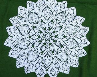 Handmade crochet doily 54 cm diameter