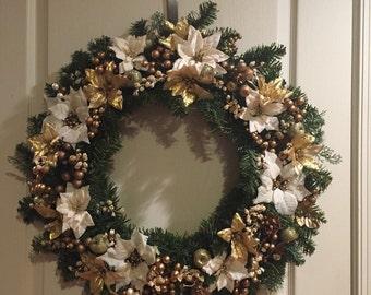 Handmade artificial wreath