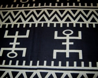 1/2 YardCut - African Pattern - Cotton Fabric