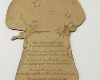 New baby wall plaque laser cut