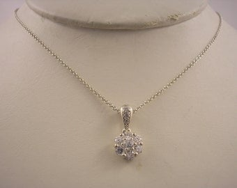 Sterling Silver pendant with Cubic Zirconium