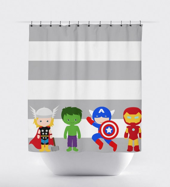 Superhero shower curtain super hero shower curtain avengers shower