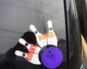 Bowling window decal