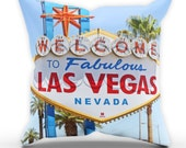 Las Vegas Sign Summer Pillow Table Cushion Cover Case Present Gift Bed Birthday Sun Holiday Home