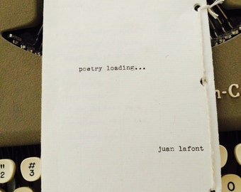 Book Of Poems. Title: Poetry Loading...