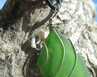 Green Seaglass Vape Charm