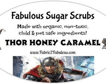 Super Hero Sugar Scrubs - Thor Honey Caramel